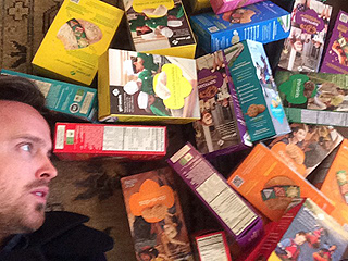 Aaron Paul's Love for Girl Scout Cookies Knows No Bounds (PHOTOS)