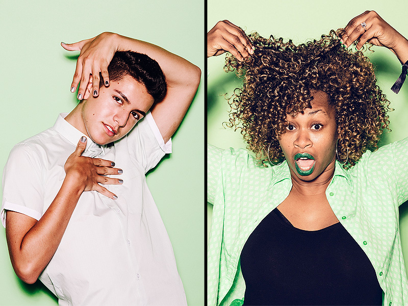 YouTube Stars GloZell, Lohanthony Back to School Questions
