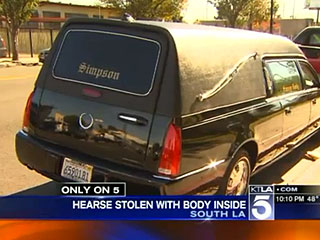 Man Allegedly Steals Hearse with a Casket During a Funeral