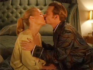 Watch Gwyneth Paltrow Gag After Kissing Johnny Depp