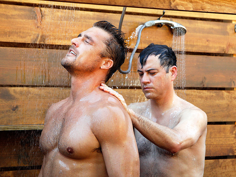 'The Bachelor': Jimmy Kimmel Visits Chris Soules in the Shower