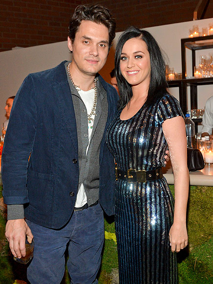 Katy Perry and John Mayer at Allison Williams' Wedding