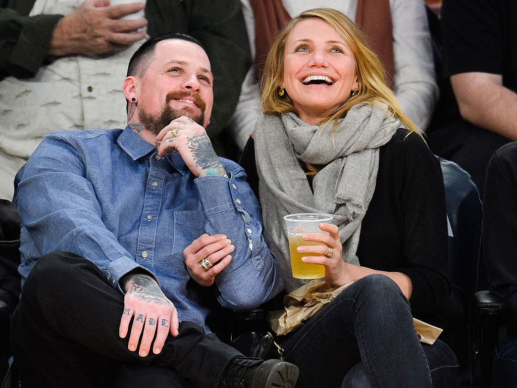 Cameron Diaz and Benji Madden Caught on Kiss Cam at Lakers Game | Benji Madden, Cameron Diaz