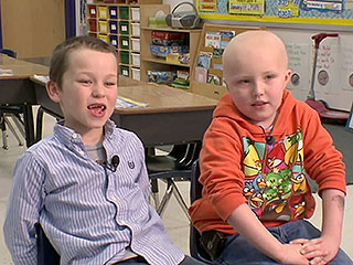 First-Grader Shaves Head for Friend with Cancer (VIDEO)