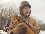 WATCH: 90-Year-Old WWII Veteran Adores Sledding with His Dog