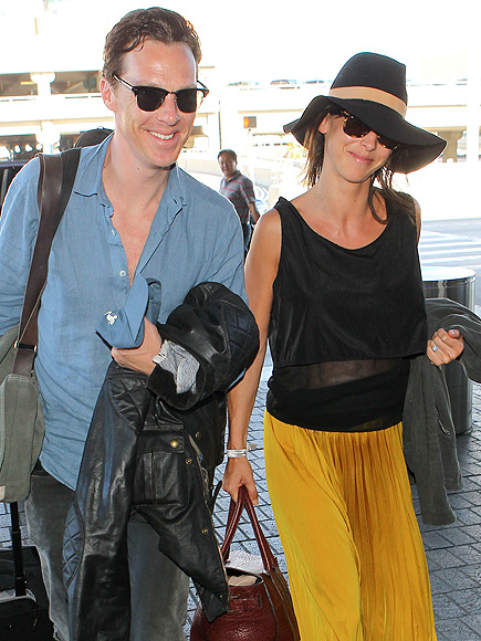 Benedict Cumberbatch Can't Hide His Smile While Returning from His 10 Day Honeymoon