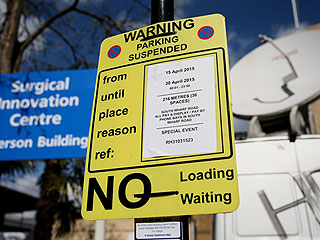It's Not a Sign: Parking Restrictions in Front of St. Mary's Do Not Guarantee a Quick Royal Baby Arrival