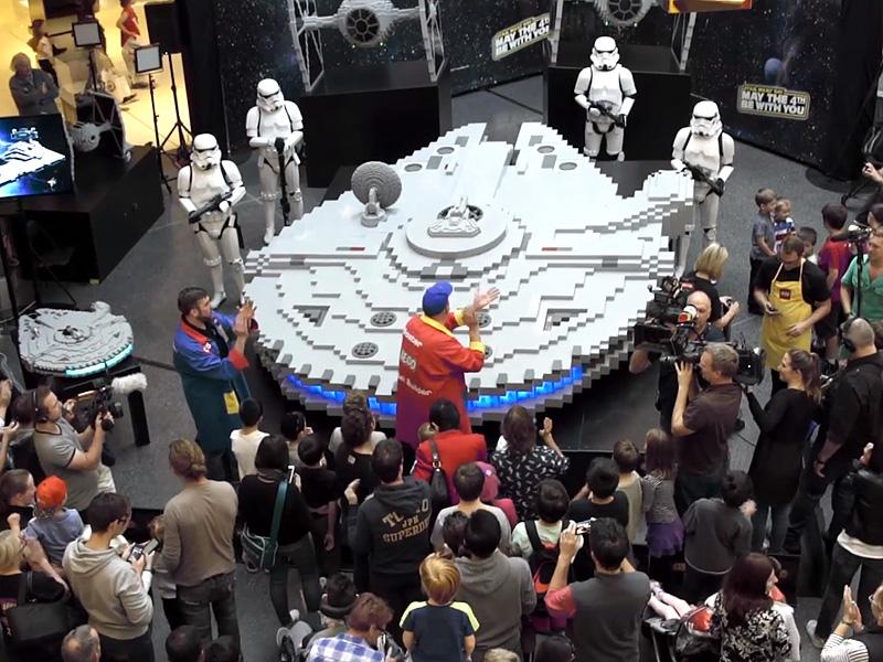 Star Wars Day: LEGO Fans Build World's Largest Millennium ...