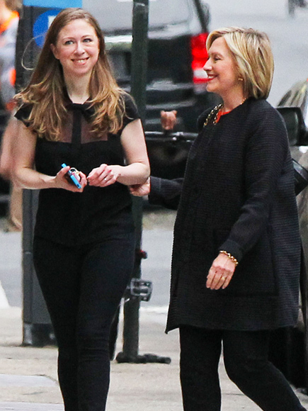Hillary Clinton Spends Mother's Day with Daughter Chelsea Clinton