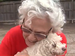 Texas Grandmother Reunited with Poodle After Being Separated During Floods