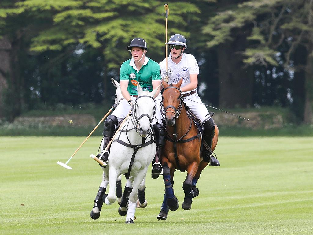 Prince Harry Playing Polo After Meeting Princess Charlotte