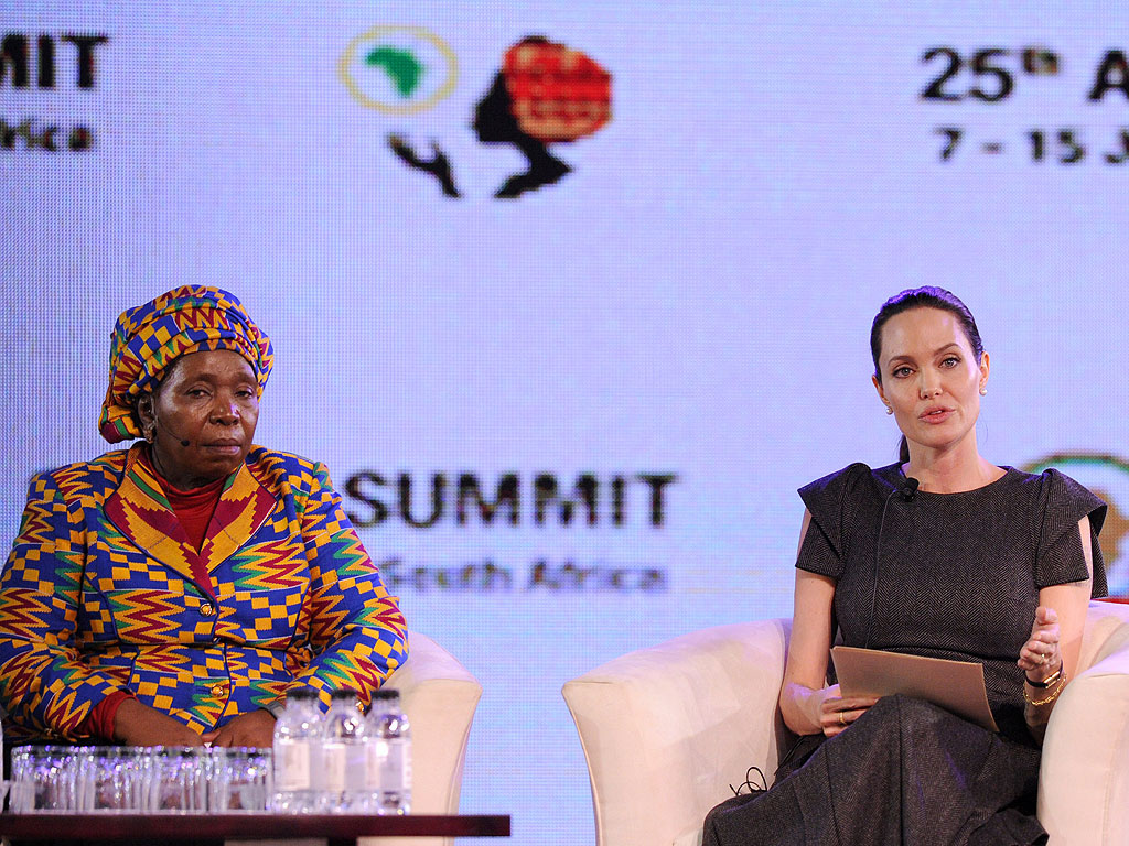 Angelina Jolie Speaks at African Union Summit in Johannesburg