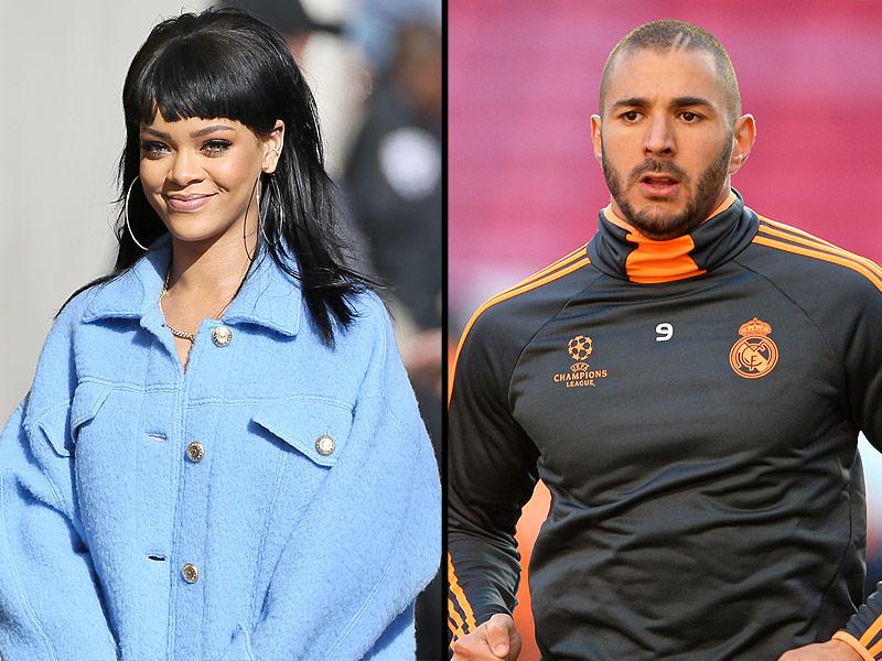 Rihanna and Soccer Star Karim Benzema Get Cuddly in Hollywood