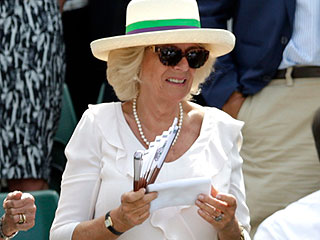 Thanks for the Wristband! Andy Murray Tosses Camilla a Special Token After His Wimbledon Win