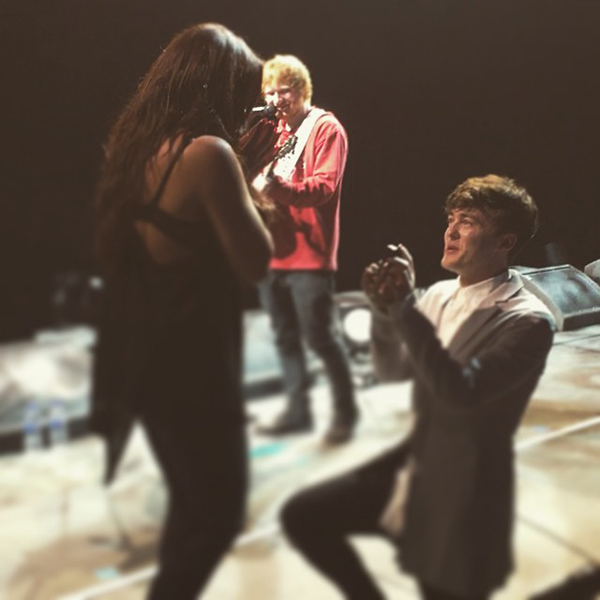 Ed Sheeran at Jake Roche and Jesy Nelson's Proposal