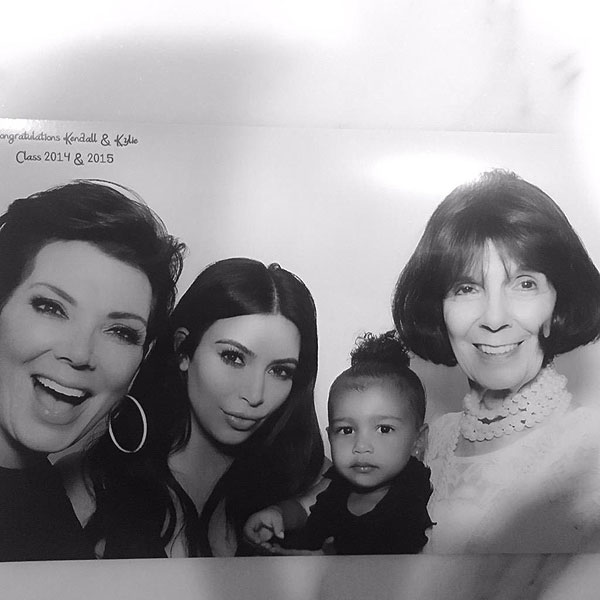 Kim Kardashian Tweets Photo of North West with Kris Jenner and Great-Grandma
