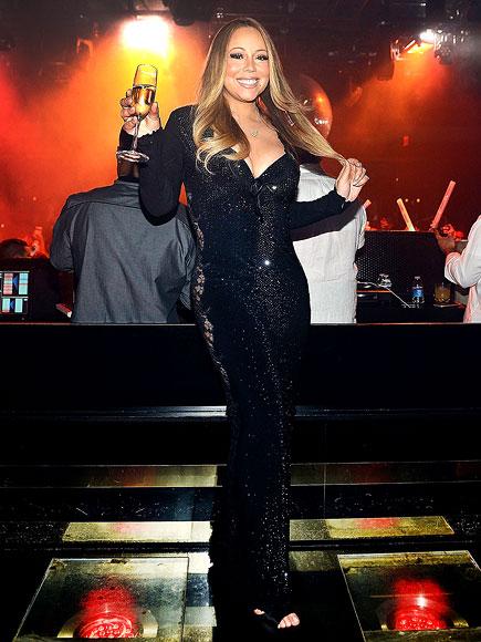 Mariah Carey Partying at 1 Oak in Las Vegas: Photos
