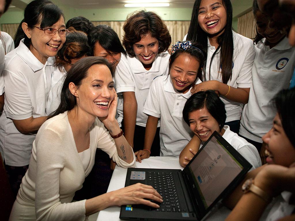 Angelina Jolie Continues Humanitarian Trip to Myanmar