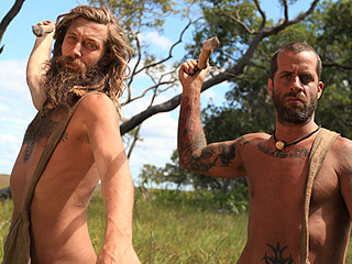 Watch Naked and Afraid's Chris and Luke Do Yoga With No Clothes On