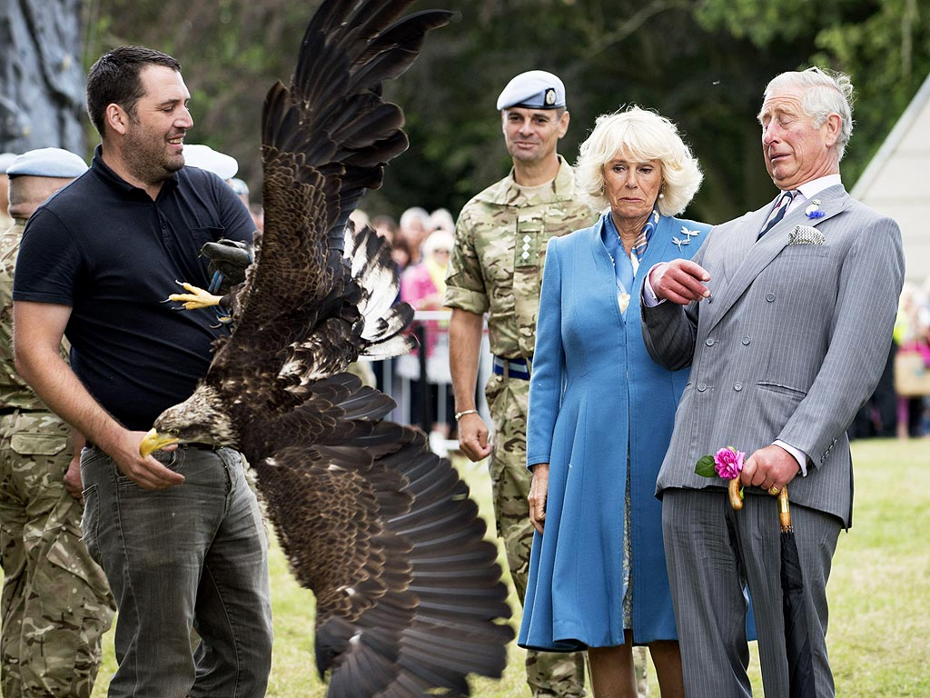 Prince Charles and Camilla Face Bald Eagle at Sandringham Flower Show