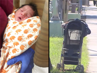 Newborn with Umbilical Cord Still Attached Found Abandoned in Stroller: 'His Pajamas Were Soaked in Sweat'