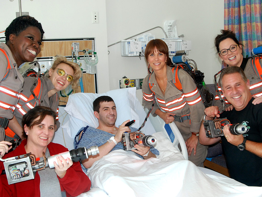 Ghostbusters Cast Comes in Costume to See Young Patients at Boston Hospital