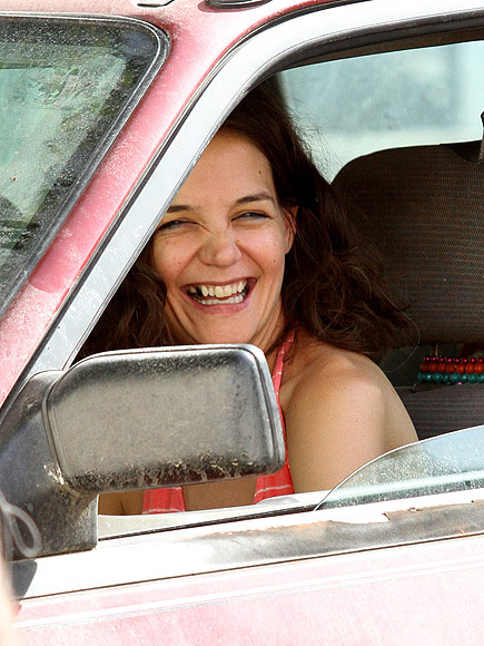 Katie Holmes Displays a Blackened Tooth on the Set of Her New Movie, All We Had