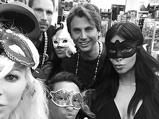 Kim Kardashian West Takes New Orleans in a Mardi Gras Mask