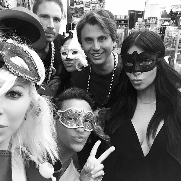 Kim Kardashian Takes New Orleans in a Mardi Gras Mask on Instagram