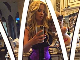 Kim Zolciak Shows Off Her Trim Figure, Says She Wears Her Waist-Trainer to Starbucks