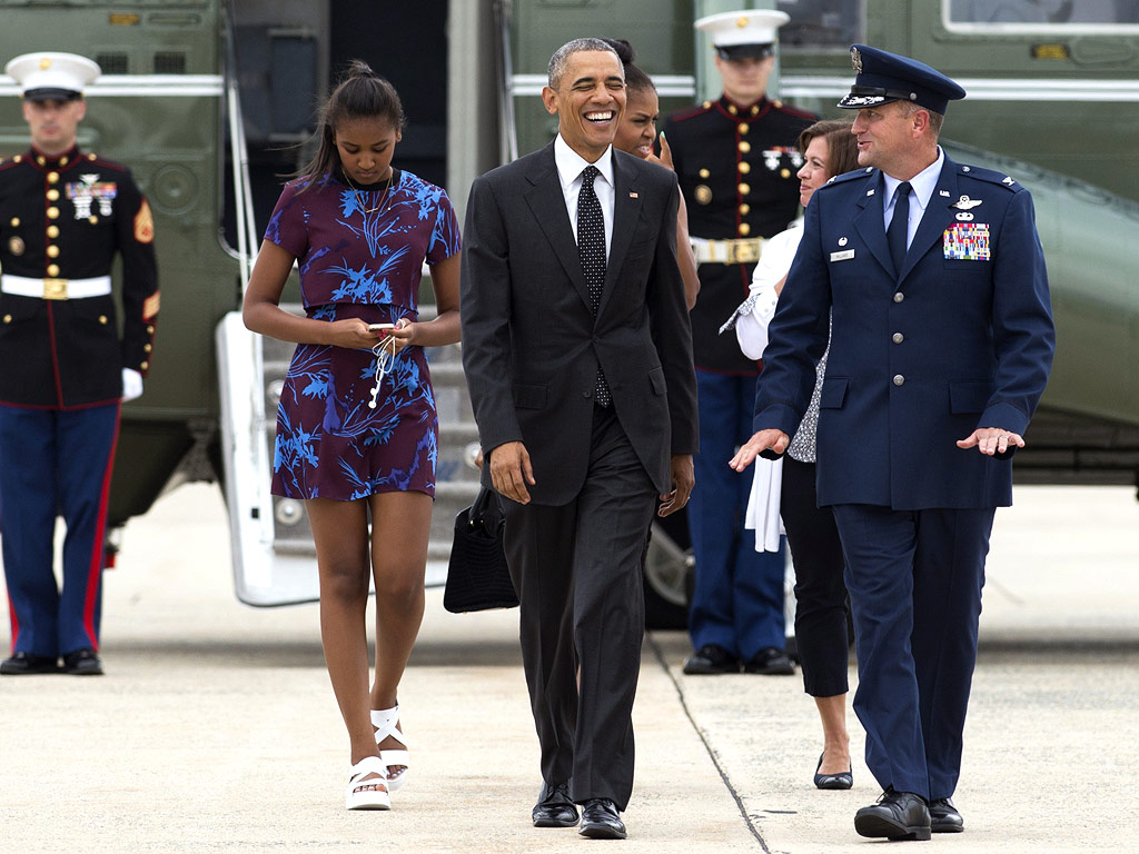 Barack Obama and Family Head to Martha's Vineyard for Summer Vacation