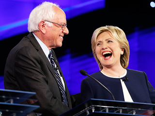 Hillary Clinton and Bernie Sanders Shake on It: 'Enough About the Emails!'