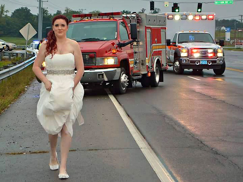 Paramedic Responds to Crash In Her Wedding Dress