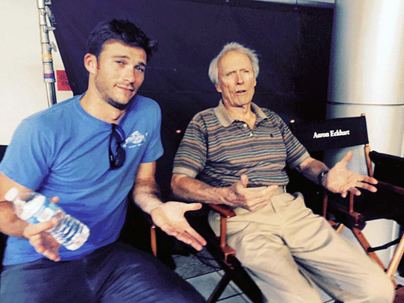 Clint and scott eastwood hang out on set people com