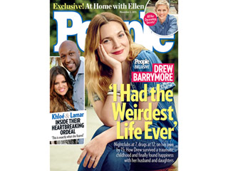 From PEOPLE: Drew Barrymore Talks About Her Childhood and Marriage'