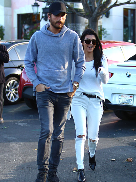 Kourtney and Scott Step Out for Lunch in Calabasas Ahead of Thanksgiving