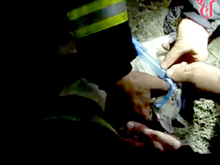 VIDEO: Firemen Save Terrified Cat's Life with Tiny Oxygen Mask in Spain