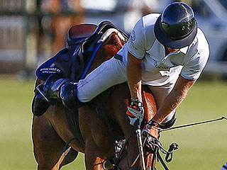 Prince Harry Falls from His Polo Pony – But Gets Right Back in the Saddle