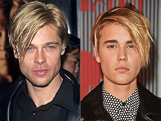 Justin Bieber's Hair 'Swoop' Will Give You Serious Brad Pitt Flashbacks