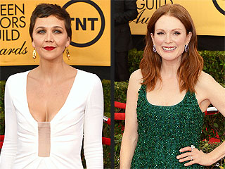 Maggie Gyllenhaal on Her SAG Awards Gown: 'I Hope My Titties Stay Inside My Dress'