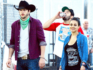 Ashton Kutcher and Mila Kunis Bring Cowboy Hats and Cutoffs to Stagecoach: Check Out Their Cute Couple Style