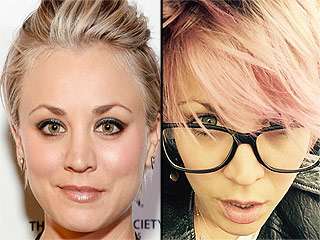 Update: Kaley Cuoco-Sweeting Dyed Her Eyebrows Pink to Match Her Pixie (New Photos)