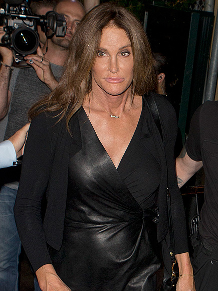 Caitlyn Jenner Wears Leather Dress at The Abbey