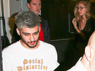 Zayn Malik Debuts Gray Hair While Out with Gigi Hadid