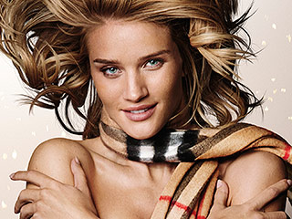 Rosie Huntington-Whiteley Goes Nude (Except For a Scarf) in Her Latest Ads