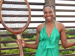 Venus Williams Creates a Serene Tennis Court Lounge to Benefit Breast Cancer Research