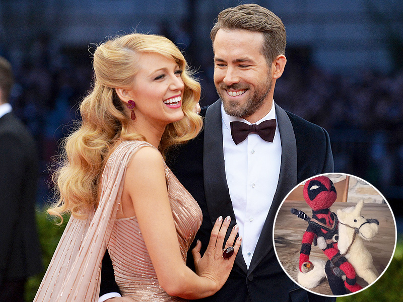 Blake Lively Gives Ryan Reynolds Deadpool Doll: Photo