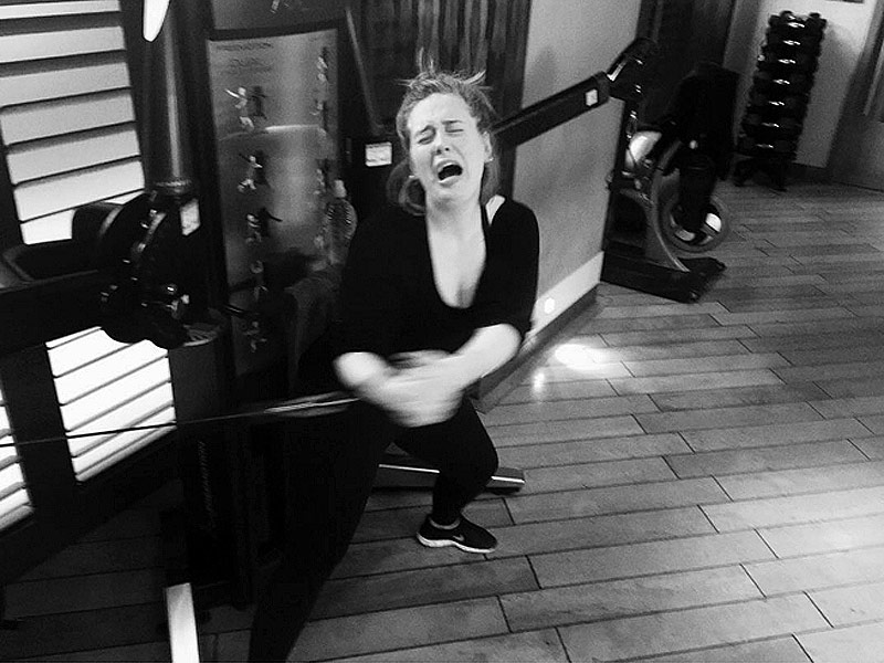 Adele Struggles During Gym Workout for Upcoming Tour