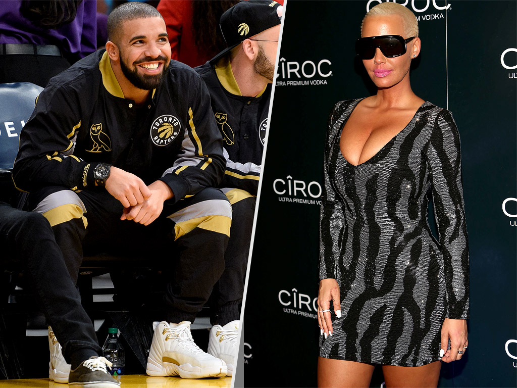 Drake and Amber Rose Together on New Year's Eve