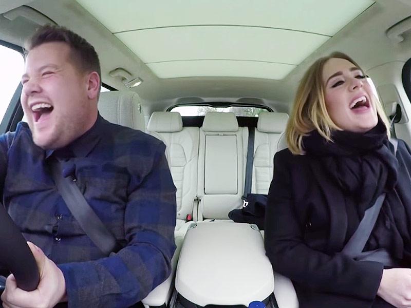 Adele Stars in Carpool Karaoke Bit with James Corden